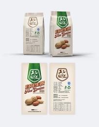 五谷杂粮白花生米包装设计
