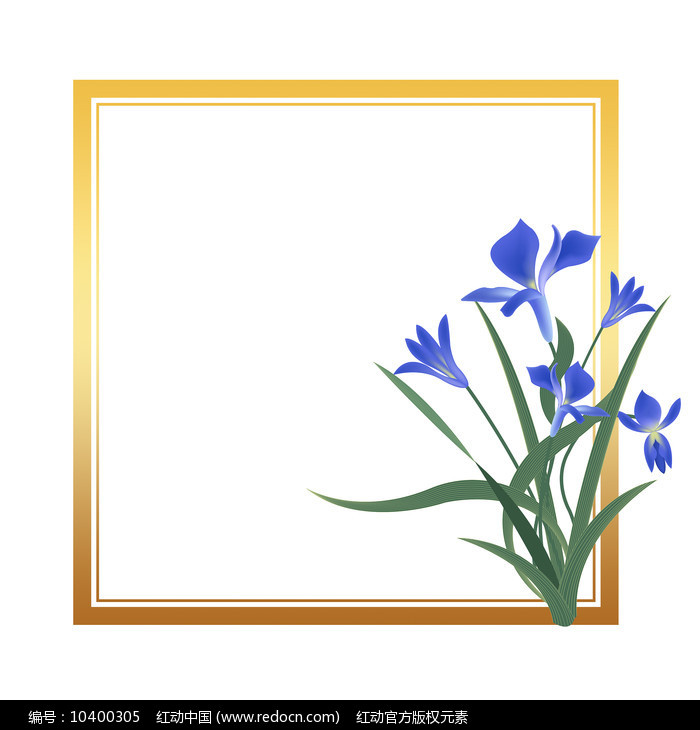 原创元素清新兰花边框图片
