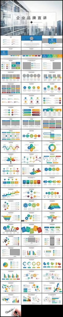 彩色图表公司简介企业宣传品牌PPT