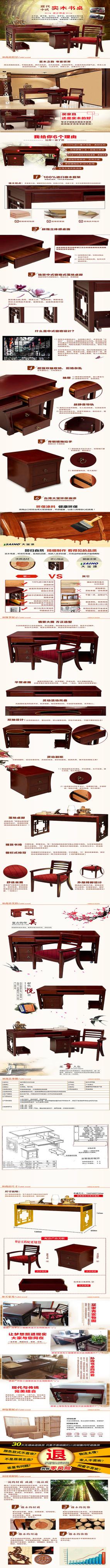 淘宝天猫实木家具详情页描述图模板