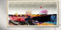 禅意抽象画彩色挂画