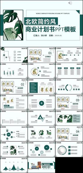 简约商业计划书ppt模板