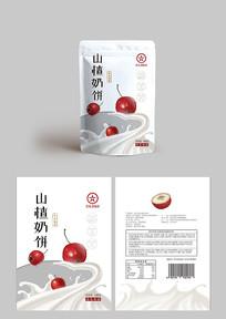 山楂奶饼包装设计