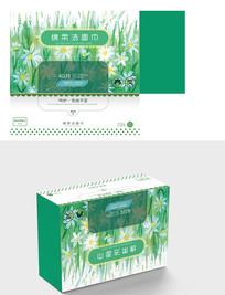 卫生纸外包装设计洁面巾日用品外皮