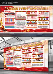 学习贯彻中国共产党支部工作条例展板