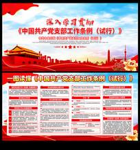 中国共产党支部工作条例试行宣传展板