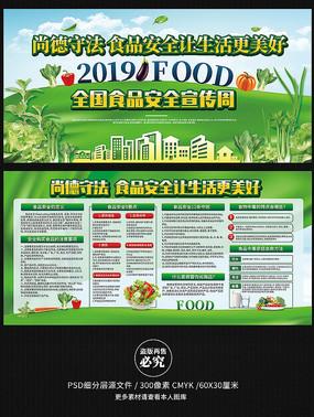2019食品安全宣传周展板