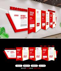 红色大气企业通用高档文化墙