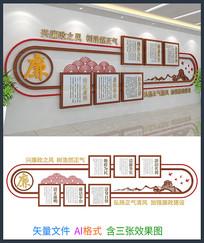 廉政文化背景墙设计模板