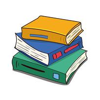 培训教育书本本子卡通
