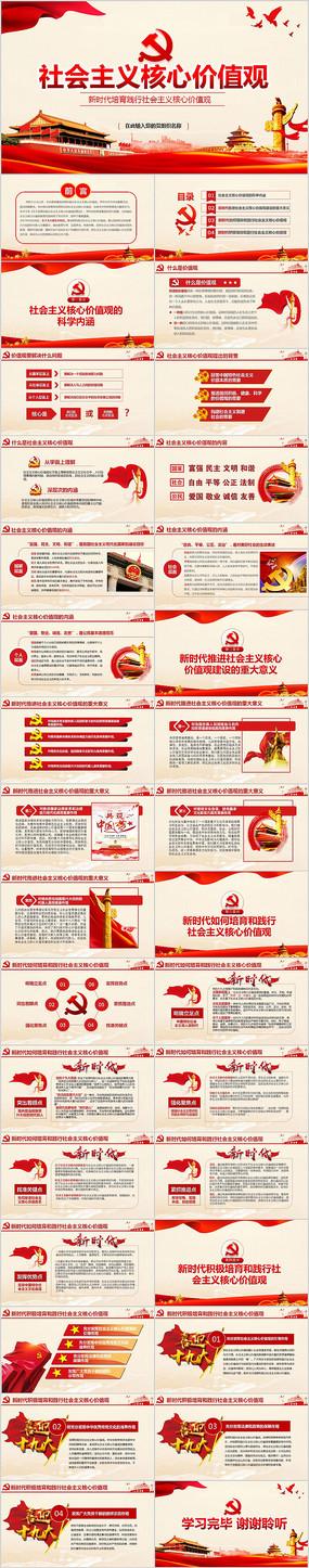 新时代培育社会主义核心价值观PPT模板