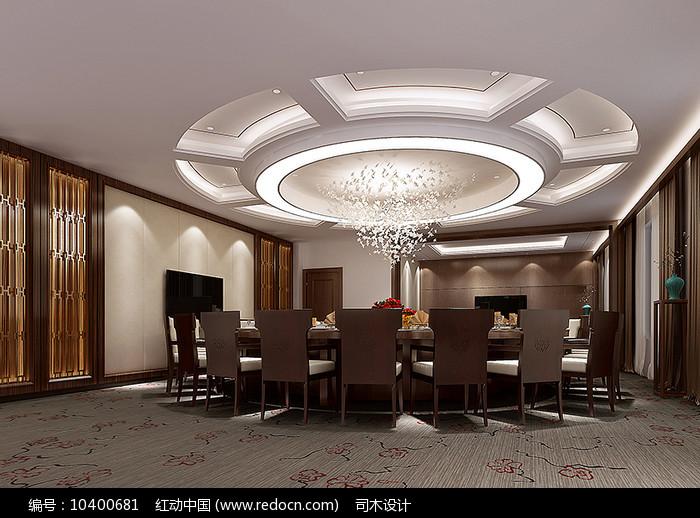 餐厅包房3d模型及效果图图片