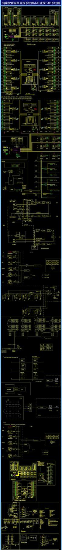 弱电智能网络监控小区监控CAD系统图