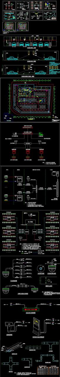 视频车位引导系统CAD施工图