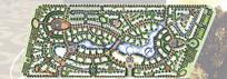 四边形森林公园彩平手绘