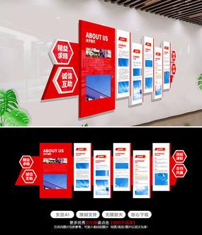 大气科技企业文化墙通用文化墙