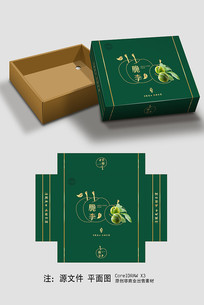 简约大气李子礼盒包装设计
