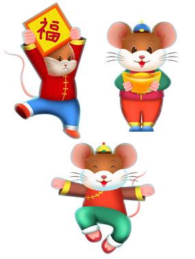 原创元素新年福气老鼠