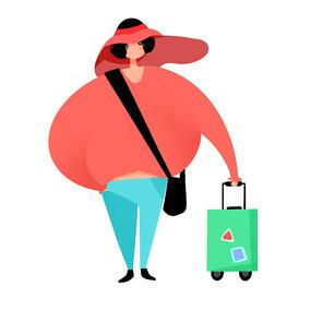 准备旅行的女孩