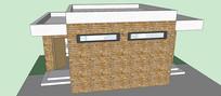 厕所建筑SU模型