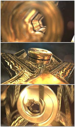 大气金色3Dlogo片头AE模板