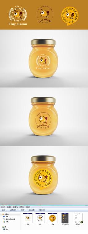 蜂蜜不干胶包装设计