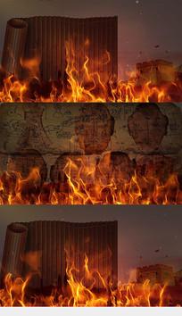 华夏文明文字诗词LED舞台背景视频素材