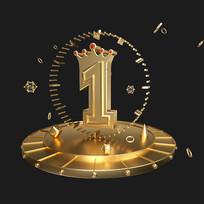 金属数字1周年庆字体元素