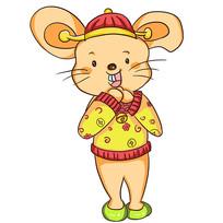 卡通可爱2020鼠年老鼠拜年吉祥物元素