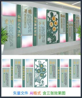 廉政文化墙设计模板