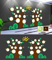 卡通幼儿园照片树文化墙设计