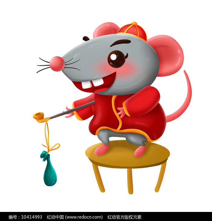 原创元素新年 小老鼠