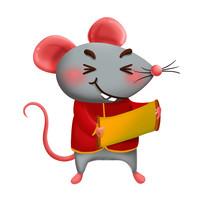 原创元素新年小老鼠  拷贝