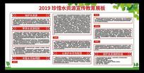 2019节约用水宣传主题教育展板