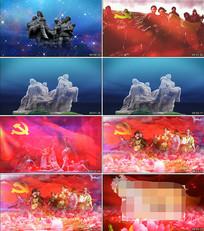 八女投江红歌配乐舞台视频素材