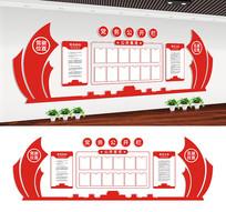 党务公开栏党建文化墙设计