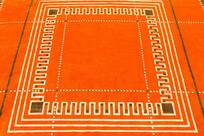 橘红色的地毯
