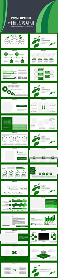 绿色销售技巧培训PPT模板