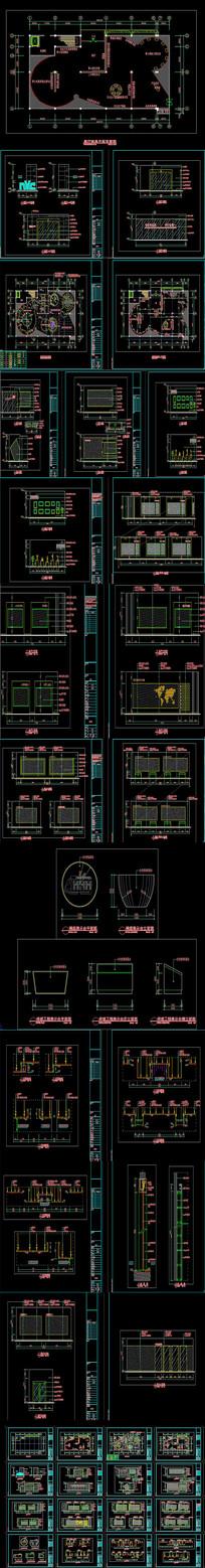 全套灯具展厅CAD装饰施工图