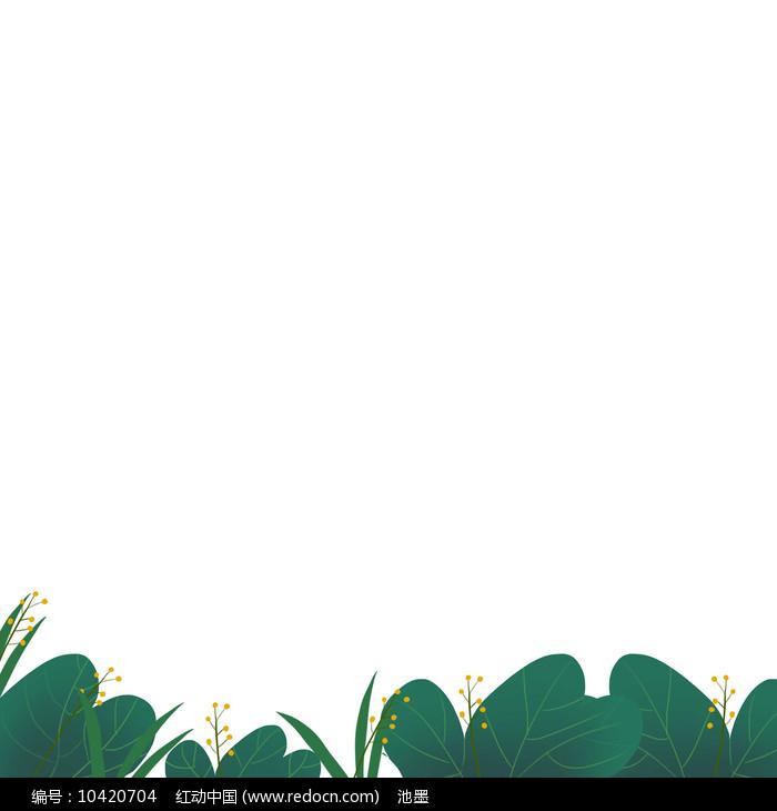 树枝树叶草丛边框图片