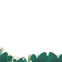 树枝树叶草丛边框