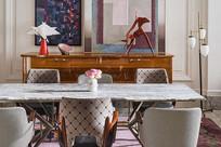 现代前卫风格的餐厅