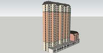 商业小区建筑模型