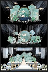 新中式婚礼背景效果图