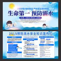 预防溺水安全知识展板设计