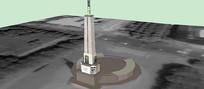 自由纪念碑SU模型