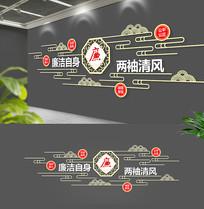 古典中式禅意廉政文化墙