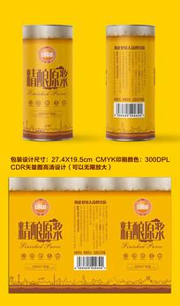 精酿原浆啤酒瓶贴系列原浆啤酒包装