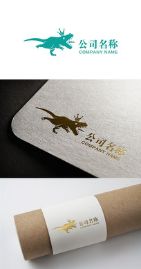恐龙logo标志设计