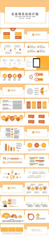 企业项目总结计划PPT模板